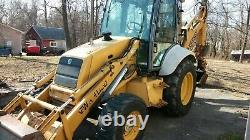 1998 FORD 555E 4x4 Backhoe 1 OWNER New Holland Loader ONLY 4495 hrs extend-a-hoe