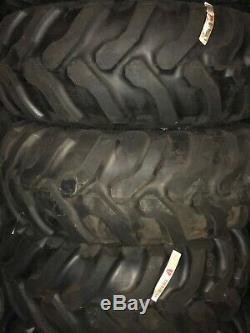 19.5/24 19.5-24 Goodyear R4 backhoe tire on John deere wheel