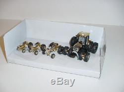 1/64 Ford/New Holland 4-Piece 100th Anniversary Gold Chase Tractor Set NIB