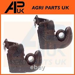 2 X Ford New Holland Tractor Cat 3 Lower Link Quick Hitch ball Hook weld on ends