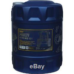 60L Original MANNOL Multi UTTO WB 101 API GL-4 Landmaschinenöl + Auslaufhahn