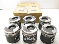 (6) New Holland 7.8L Diesel 474 OEM Ford F1HZ6108U Pistons Set 0.020 OVERSIZE