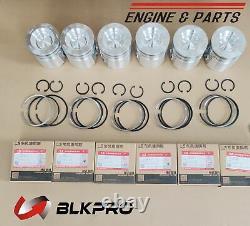 6 PISTON & Piston Rings Sets STD For 6.7L B4.5 Cummins ISB QSB JCB CASE 4955520