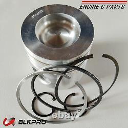 6 Pistons + Ring Sets For Dodge Ram 5.9L Cummins 24V 98-02 VP44 STD