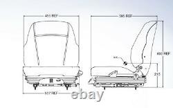 Air Suspension Seat Kubota Mower ZD331, ZG222, ZG227, ZG327P
