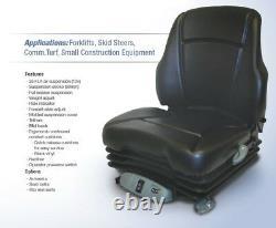 Air Suspension Seat for New Holland Skid Steer, Excavator Dozer Tractor Loader