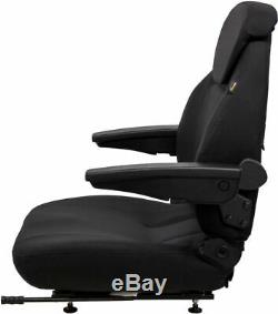 Black Fabric Universal Tractor Seat Fits Case IH John Deere Ford New Holland