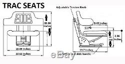 Black Fits Ford / New Holland 3000 3600 3610 3900 Waffle Tractor Suspension Seat