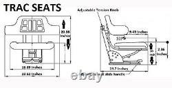 Black International Harvester 674 684 685 Triback Style Tractor Suspension Seat