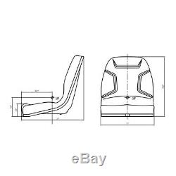 Black Seat for Ford New Holland Compact Tractor 1320 1520 1720 1920 2120