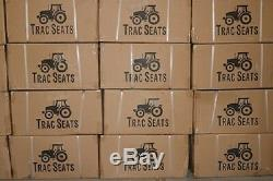 Black Universal Waffle Tractor Suspension Seat Fits Ford / New Holland 5100