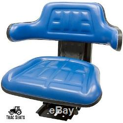 Blue Ford/new Holland 4000 4100 4110 4600 Su 4610 Waffle Tractor Suspension Seat