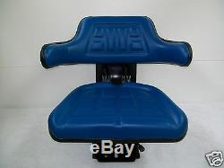 Blue Ford/new Holland 4000 4100 4110 4600 Universal Tractor Suspension Seat #id