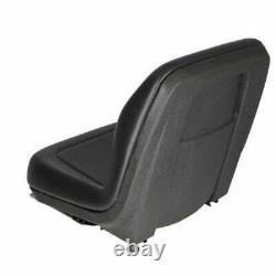 Bucket Seat with Rails Vinyl Black Compatible with New Holland John Deere Case