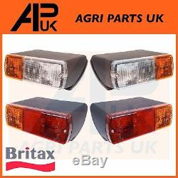 David Brown Case IH Ford New Holland Fiat Tractor Front Side Light Rear Lamp Set