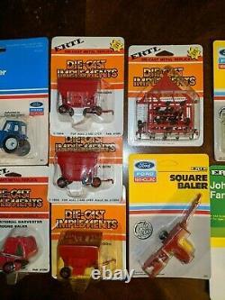 ERTL 1/64 NIB Lot of Tractors & Equipment Ford John Deere Case New Holland