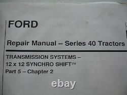 Ford New Holland Versatile Series 40 Tractor Service Shop Repair Workshop Manual