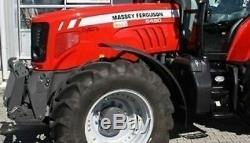 John Deere Case Ih Ford New Holland Massey Ferguson Mfwd Lh/rh Mudguards (two)