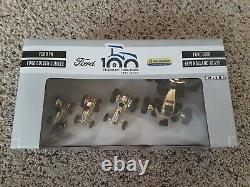 RARE Gold Version Ford New Holland 100 Years Of Tractor Set 164 Scale
