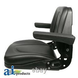 Tractor and Kubota Skid Steer Universal Seat withArms & Slide Track T500BL