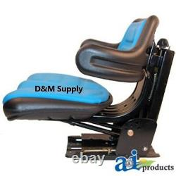 Universal Tractor seat to fit Ford New Holland blue