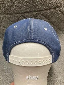 VINTAGE K-Products FORD NEW HOLLAND Tractor Patch Denim Snapback Trucker Hat USA