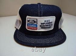 Vintage Ford-New Holland Trucker Snapback Patch/Mesh/ Denim Cap K-Products