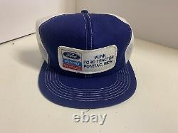 Vintage Trucker Hat Ford Tractor New Holland K Products NOS USA Made Patch Blue