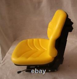 YELLOW TRACTOR SUSPENSION SEAT FOR John Deere 5000 Series #VDA195
