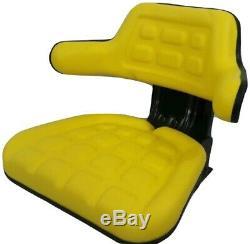 Yellow Tractor Suspension Seat For John Deere 5200 5210 5300 5310 5400 5410 #iep
